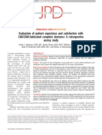 Evaluation of Patient Experience and Satisfaction With CAD CAM Fabricated Complete Dentures a Retrospective Survey Study