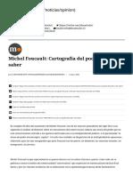 Michel Foucault_ Cartografía del poder y del saber - El Mostrador.pdf