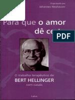 Para Que o Amor de Certo o Trabalho Terapeutico de Bert Hellinger Com Casais PDF