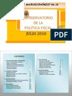 Reporte macroeconómico julio OPF