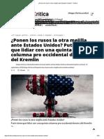 The Saker. ¿Ponen Los Rusos La Otra Mejilla Ante Estados Unidos, 9-18