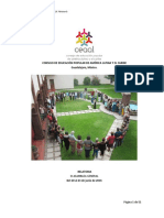 Memoria del Encuentro de Educación Popular y IX Asamblea General de CEAAL. Guadalajara. junio 2016.