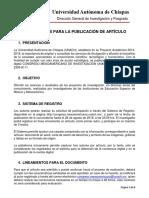 Lineamientos Para Publicacion Revista Congreso 2018