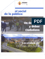 Control Social de lo público. Veeduría Distrital 2005.