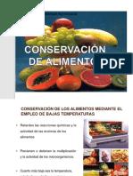 4° Conservación de alimentos con temperaturas bajas