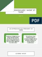 lesson 6 - expressions avec avoir   etre