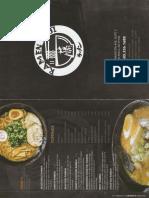 Ramen Fuji menu - front