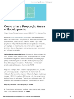 Como criar a Proporção Áurea + Modelo pronto