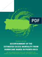 Acertainment of the Estimated Excess Mortality From Hurricane Maria in Puerto Rico