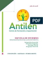 Programa Escuela de Invierno Antilén 2018