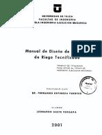 Manual de Diseño de Riego Tecnificado