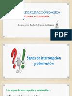 Signos de Interrogación y Exclamación, Puntos Suspensivos, Signos de Colección, Guion (3)