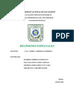 Regimenes Especiales - Ir