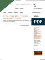 Cómo Evaluar Sitios y Recursos Educativos de Internet - Recursos Educ