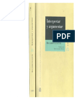 Guastini - Interpretar y Argumentar