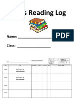 Finalized Reading Log - 6th Grade 2018 - 2019
