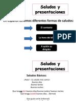 Primera Clase de Español