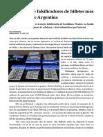 Cae La Red de Falsificadores más grande de argentina- Noticia