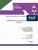 Informe Teorias Sociologicas Sobre Ciudad