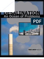 Desalination an Ocean of Problems