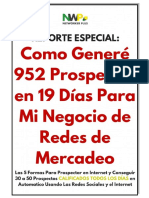 Como Generé 952 Prospectos en 19 Días [RED MULTINIVEL]