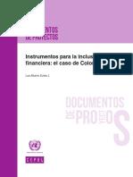 Instrumentos Para La Inclusión Financiera El Caso de Colombia