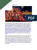Sinopsis de La Película Avengers Infinity War