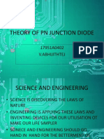 Theory of Pn Junction Diode