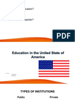 Education in the United State of America