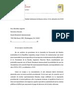 Gillermo Moreno Carta Al Fondo Monetario Internacional