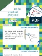 03 Sumatoria Vectores 2D y 3D (Repaso)