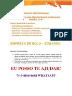 Anhanguera Empresa Eduardo Bolos t Processo Gerenciais