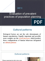 Evaluation of Prevalent Practices of Population Planning