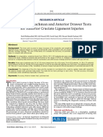 Accuracy of Lachman and Anterior Drawer Tests for