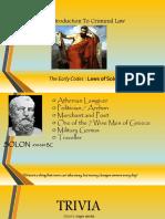 Laws of Solon (Intro Report)