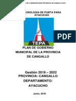 Plan de Gobierno de Oscar Raul Huamaccto Huacausi