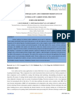 EVALUATION OF BOND QUALITY AND CORROSION RESISTANCE OF  STAINLESS STEEL-LOW CARBON STEEL FRICTION  SURFACED DEPOSIT