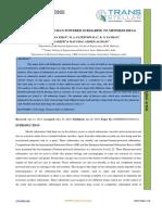 CFD ANALYSIS OF HUMAN POWERED SUBMARINE TO MINIMIZE DRAG