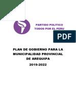 Plan de Gobierno Todos Por El Peru