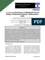 Ethnobotanical Survey of Markanda Forest Range of Gadchiroli District Maharashtra India