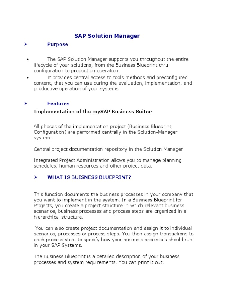 Sap solution manager introduction business process scope sap solution manager introduction business process scope computer science malvernweather Images