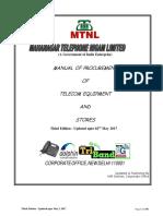 MTNL Procuement Manual