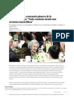 """Brenda Milner, Centenaria Pionera de La Neuropsicología_ """"Todo Continúa Siendo Una Aventura Maravillosa"""" _ Ciencia _ EL PAÍS"""