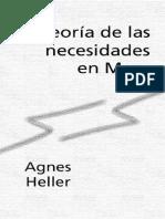 Heller Agnes - Teoria de Las Necesidades en Marx [PDF]