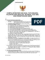 Kumpulan Soal Tata Negara, Falsafah & Ideologi, Sejarah, UUD.pdf