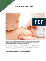 Apa Yang Terjadi Kalau Bayi Tidak Imunisasi