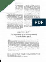 TheImpossibilityOfAnOntologicalProofOfTheExistenceOfGod ImmanuelKant