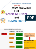 BHRAC as Brgy Mechanism for Access to Justice & Hr