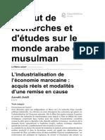 Le Maroc Actuel - L'Industrialisation d...'Études Sur Le Monde Arabe Et Musulman