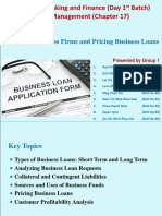 Chapter-17 Bank Management - Lending to Business Firms and Pricing Business Loans